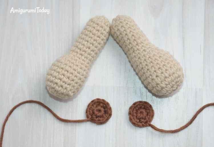 Honey teddy bears - crochet patterns - arms