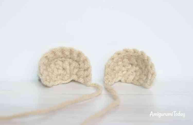Honey teddy bears - free crochet patterns - ears