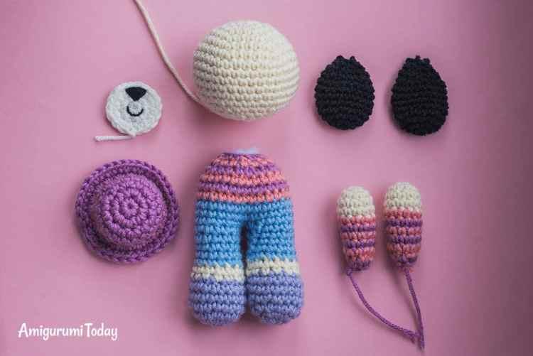Charlie the dog crochet pattern - assembly