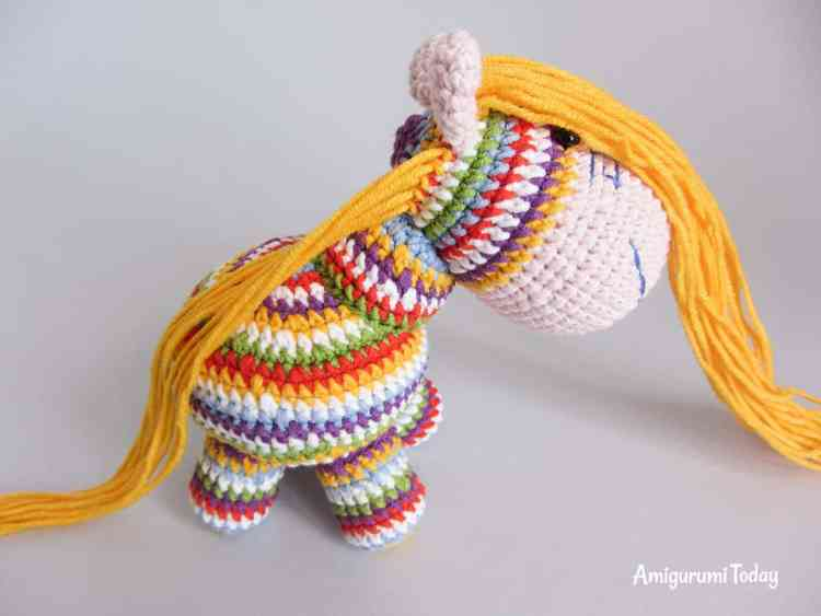 How to make amigurumi pony mane