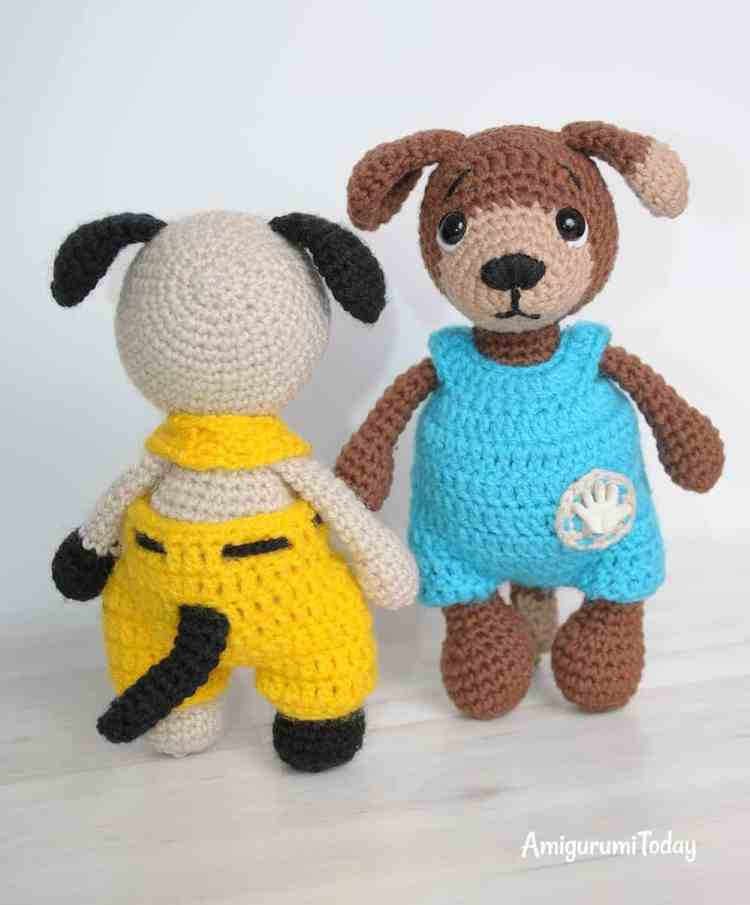 Timmy and Tommy dogs - free amigurumi patterns