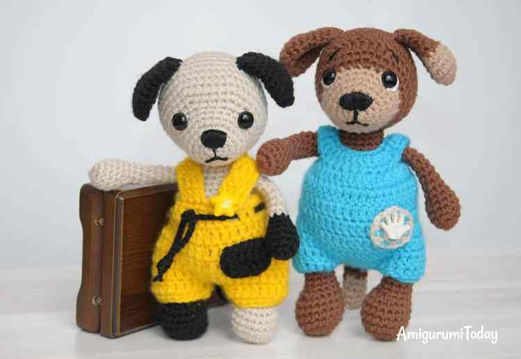 Timmy and Tommy the dogs - free crochet patterns