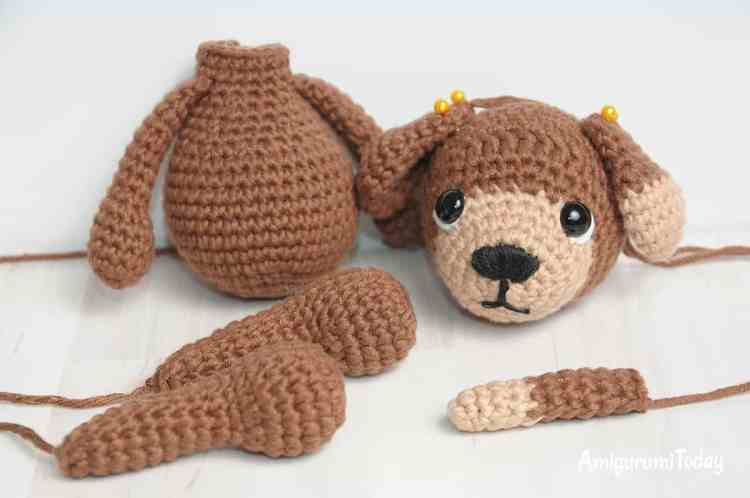 Timmy the Dog Amigurumi Pattern - assembly