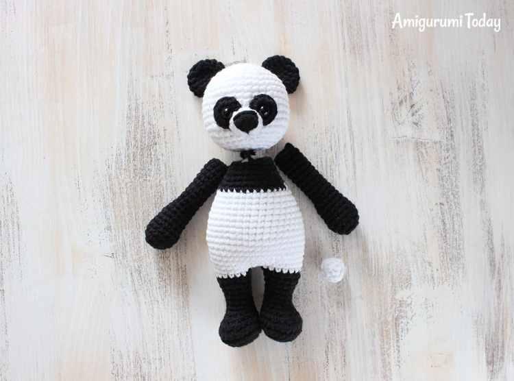Cuddle Me Panda amigurumi pattern - assembly