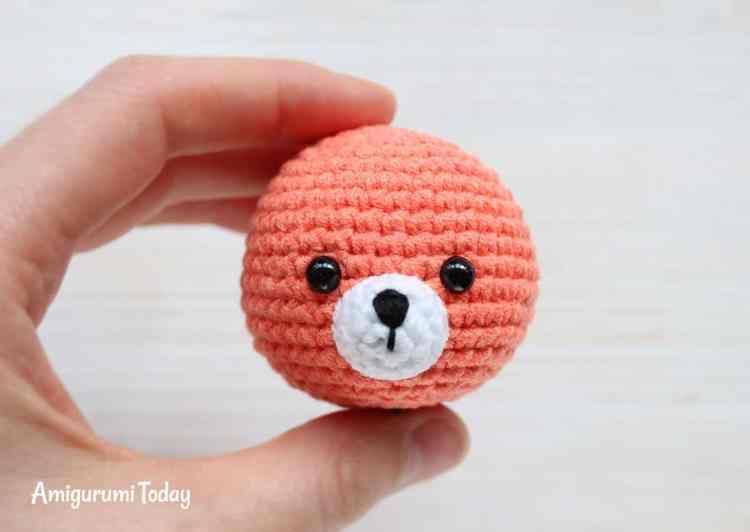 Cuddle Me Fox Amigurumi Pattern - muzzle