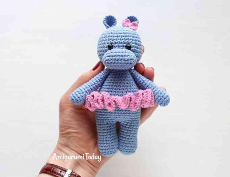 Free Cuddle Me Hippo amigurumi pattern