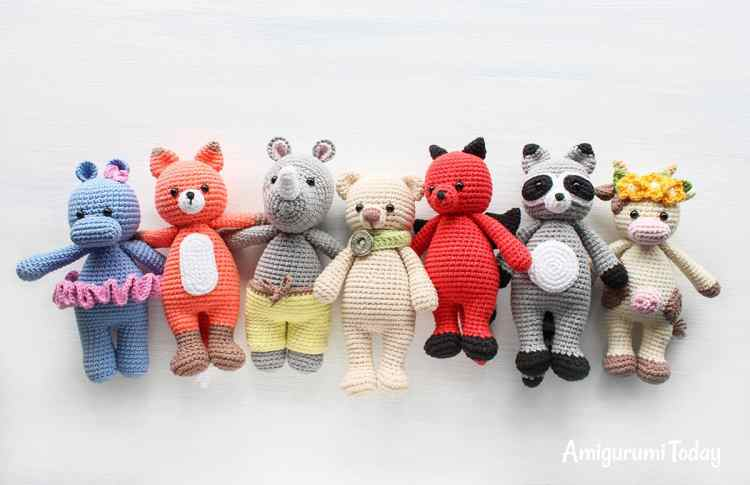Cuddle Me Toy Collection - Free amigurumi patterns on Amigurumi Today