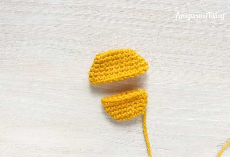 Webby Duck amigurumi pattern - beak