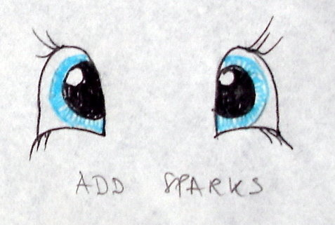 Add white sparks