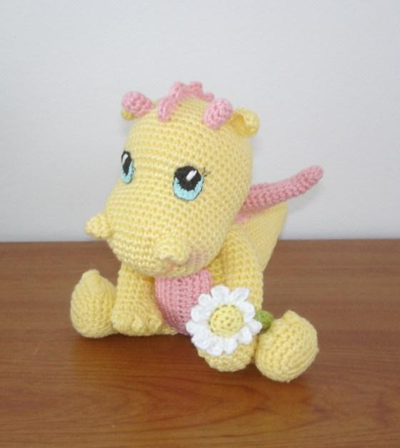 Baby girl dragon by Vanja Grundmann-AmigurumiBB Free pattern