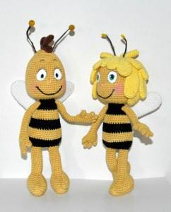 Maya the Bee and Willy pattern by AmigurumiBB
