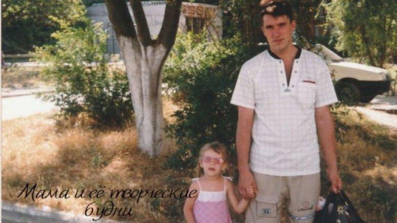 Папа с дочкой в поездке на море