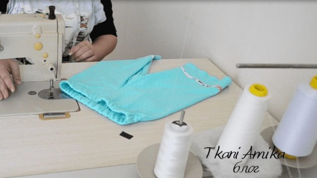 Обработка пояса-кулиски с эластичной тесьмой