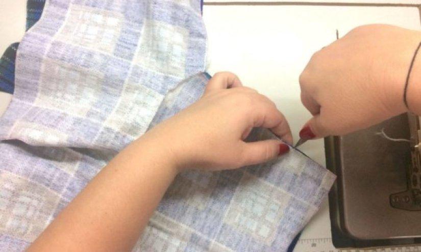 Обработка рукава