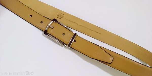 Superbe ceinture cuir beige