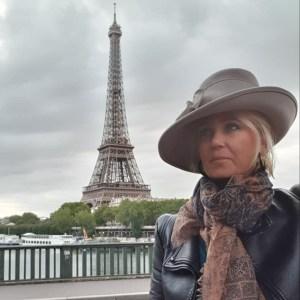 Chapeau feutre gris avec ruban