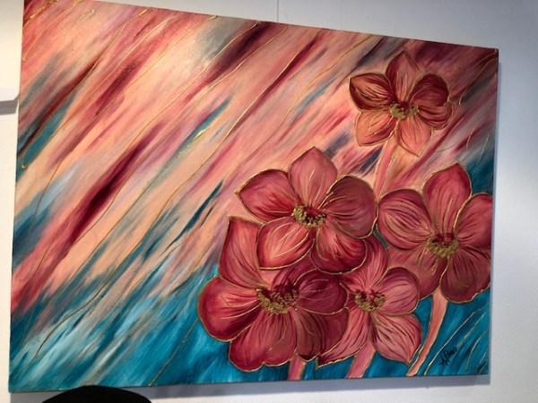 Tableau fleurs Ana-Flavia Peres