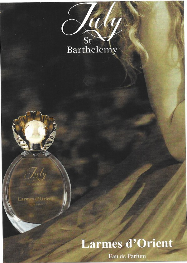 Larmes d'Orient perfumed card