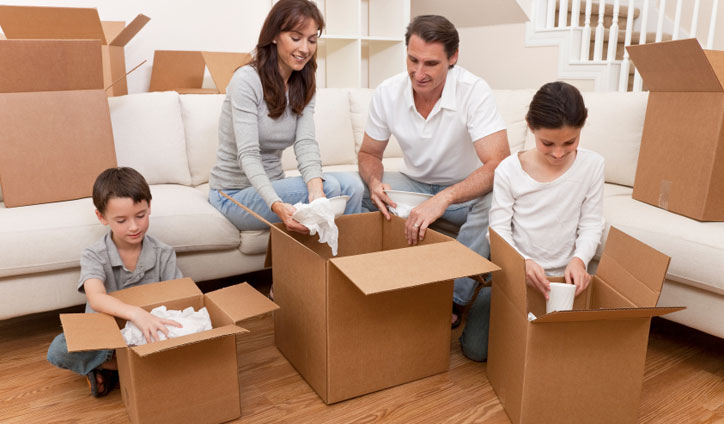 Family packing Boxes