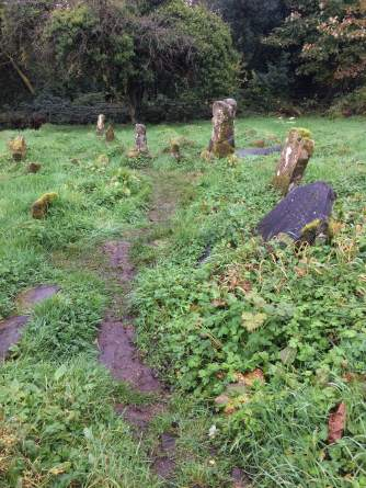 Old gravestones at Caldragh Cemetery
