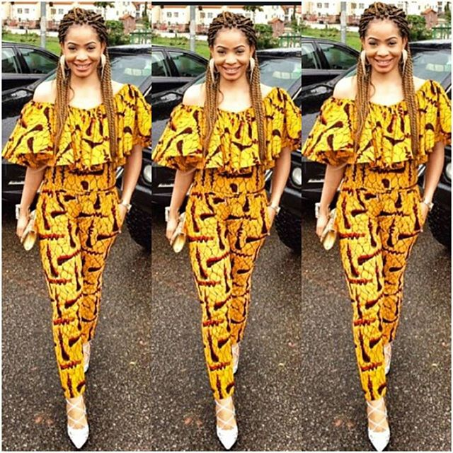 Ankara Trousers For Women @Mimiwhyte - AmillionStyles