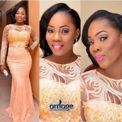 colorful asoebi in lace amillionstyles5