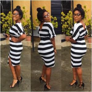 5 Amazing Stripe Dresses In A Million Styles - Aderhonke Adefalujo