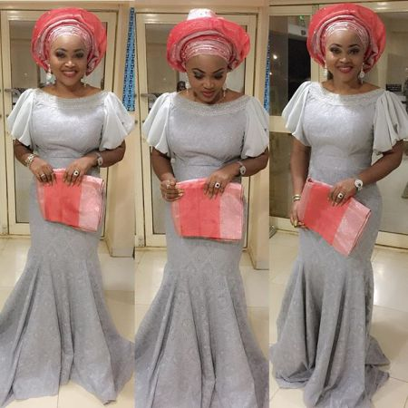 Aso Ebi Styles Over The Weekend @MercyAigbegentry - AmillionStyles