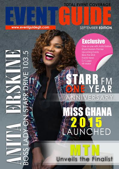 ghana anita erskine cover girl for eventguide - amillionstyles