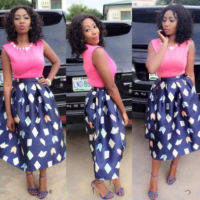 Stunning Flair Skirt With Tops @olamide_h