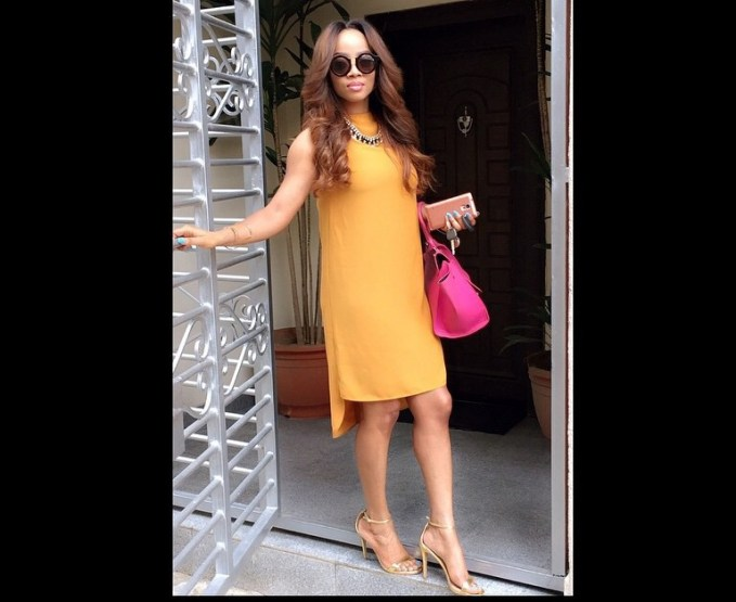 amazing casual dress from Toke Makinwa