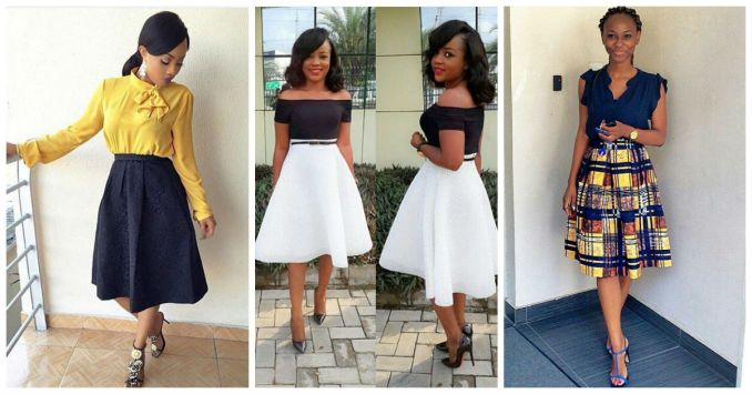 Stunning Flair Skirt With Tops amillionstyles