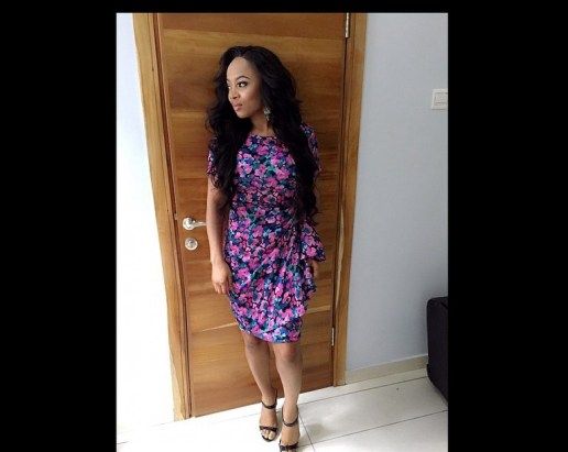 Toke Makinwa Slaying wrap dress