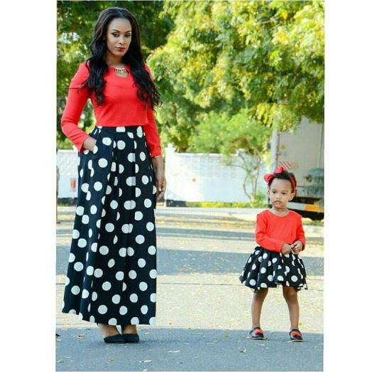 mother and daughter's outfit @belina_mgeni
