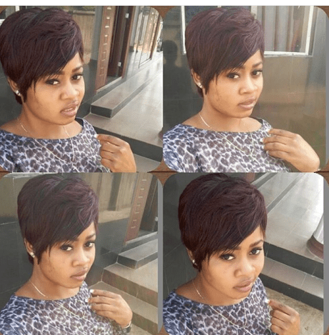 Beautiful Fringle And Short Styled Hair amillionstyles.com @debiekbeauty