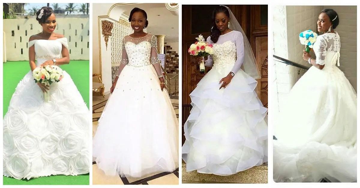Nigerian Trending And Glamorous Wedding Dresses. | A Million Styles ...