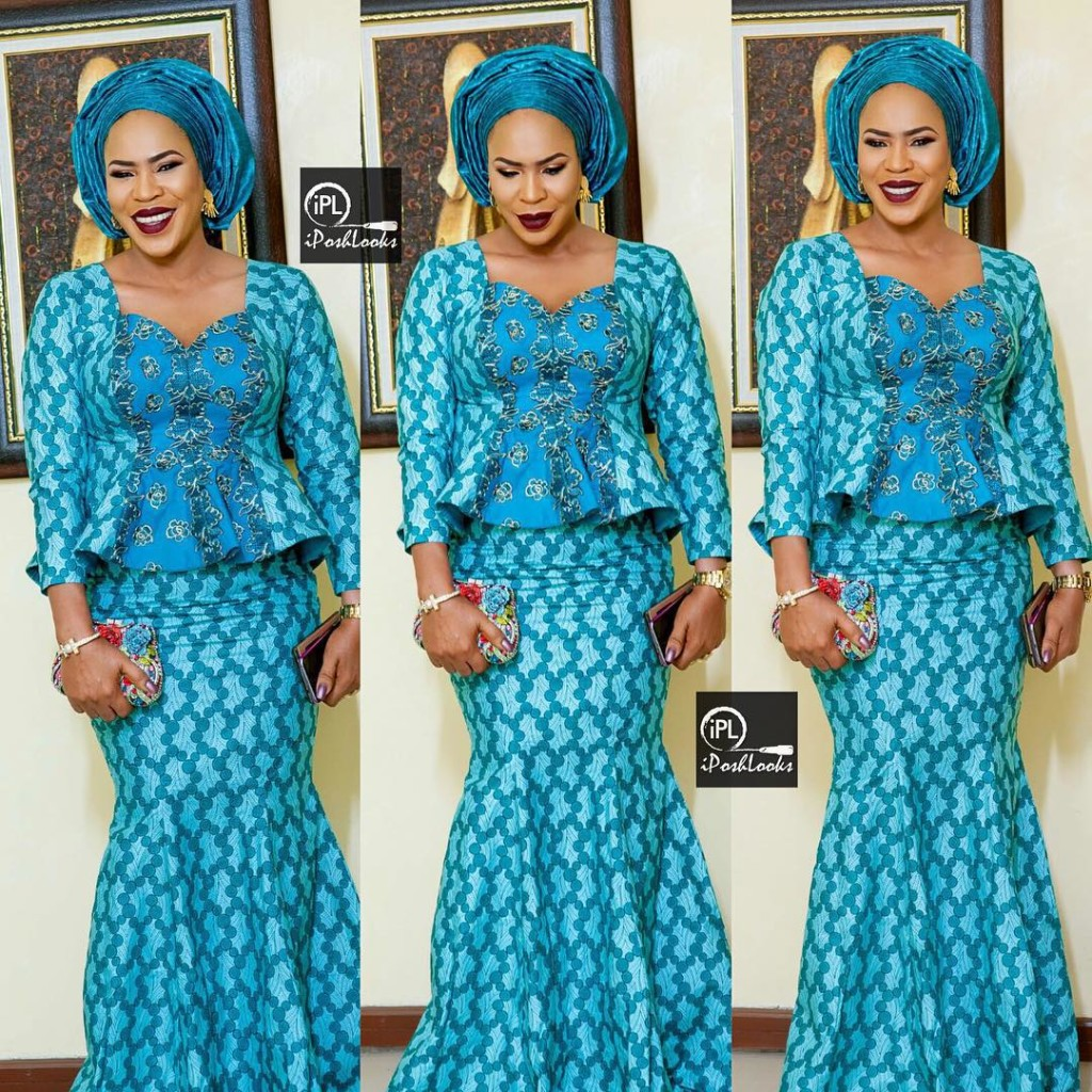 10 Beautiful Asoebi and Ankara Styles - Over the Weekend. | A ...