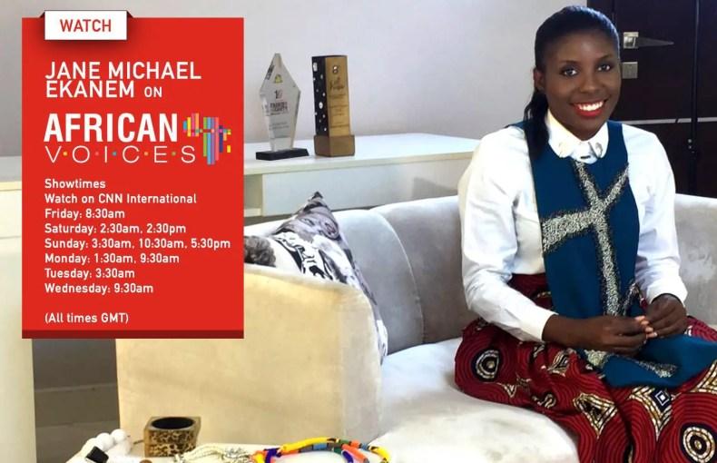 Jane Michael Ekanem ON CNN's African Voices amillionstyles