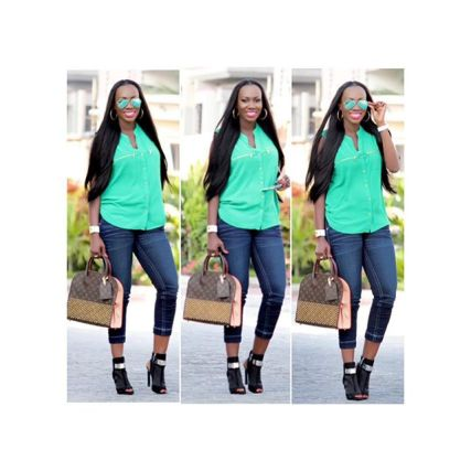8 Eye Catching Denim Styles Amillionstyles.com @medlinboss
