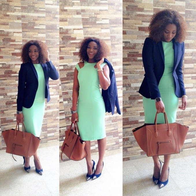 5 Nice Gown With Jacket Office Inspired. @genevievennaji