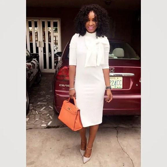 10 Stylish Plain Or Patterned Dresses for Church amillionstyles.com @stylebyeka
