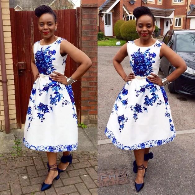 10 Stylish Plain Or Patterned Dresses for Church amillionstyles.com @chimedzam