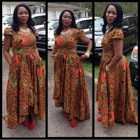 Latest Full Gown Ankara Styles amillionstyles.com @ankarafashions