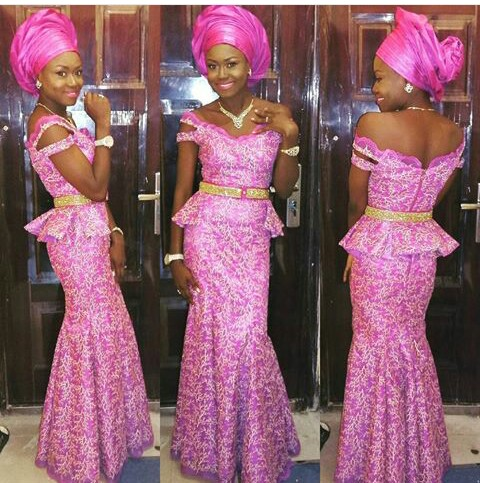 Classy Aso Ebi Styles In Lace Worn Over The Weekend @houseoftefe