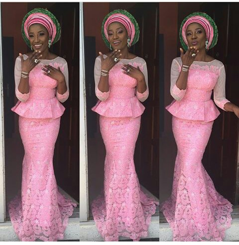 Classy Aso Ebi Styles In Lace Worn Over The Weekend  @lauriebaby_o