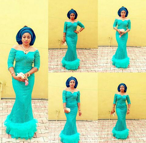Classy Aso Ebi Styles In Lace Worn Over The Weekend @obbieen