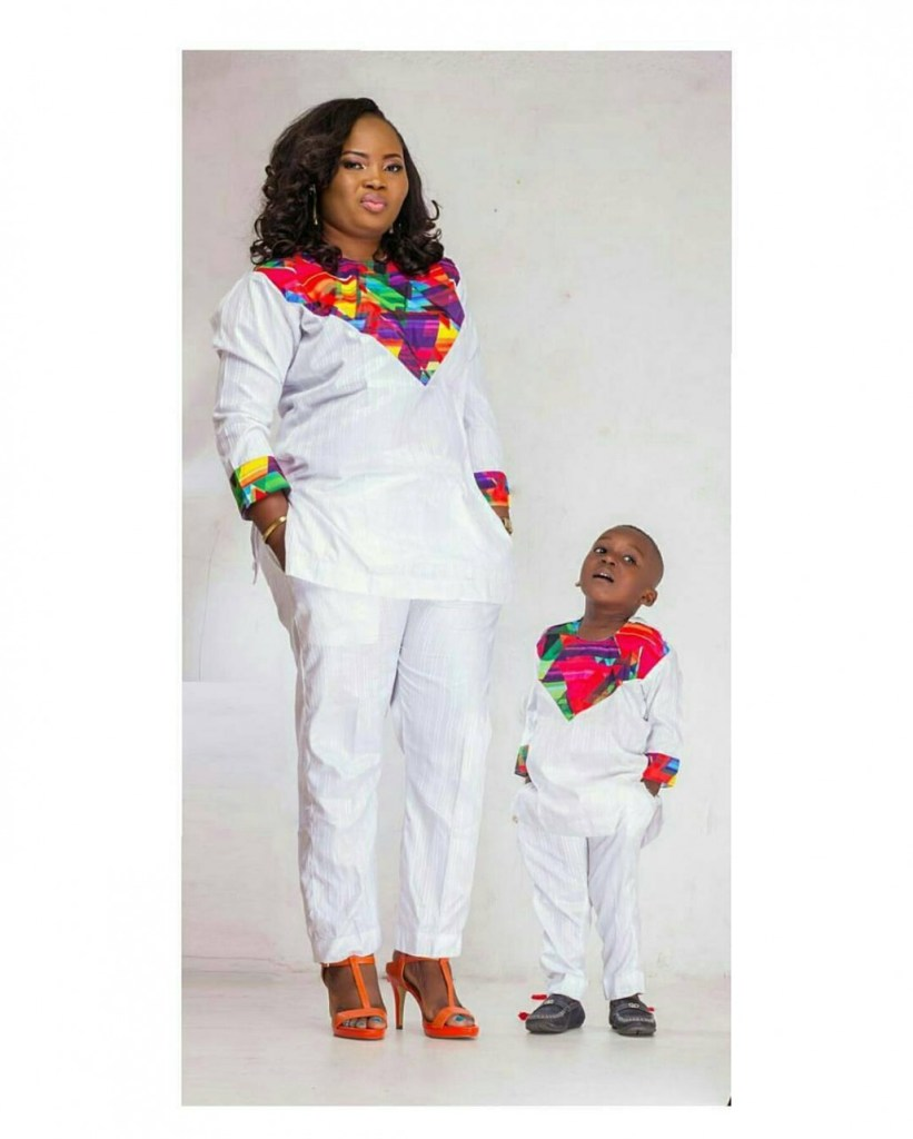 Stylish Mother And Daugther/Son Outfits amillionstyles.com @flintheartng