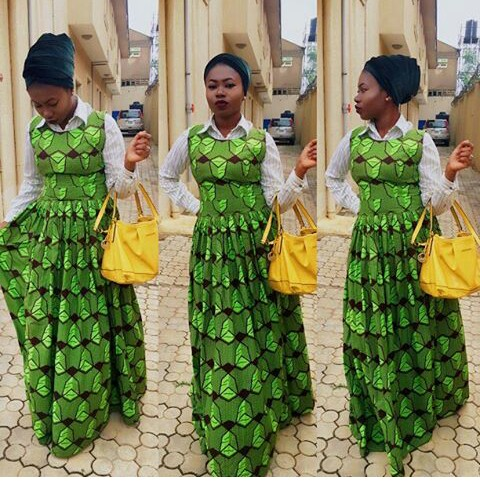Colorful Ankara In Dungarees Style amillionstyles @tomiscolourpavilion