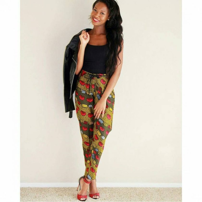 Colorful Ankara Pant amillionstyles.com @liliicreation