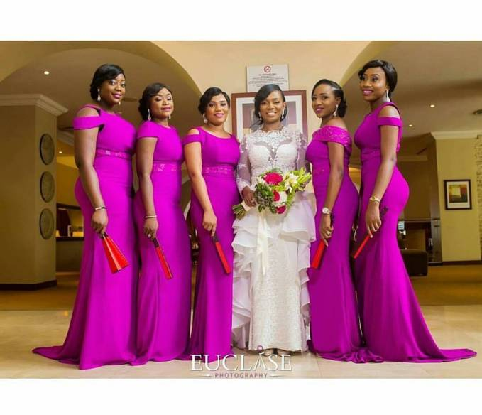 Delectable Bride And Bridesmaid Outfit 2016 amillionstyles @euclase_ltd